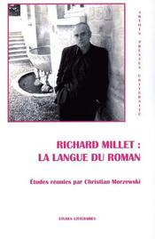 Richard Millet : la langue du roman